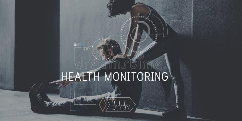 Concept de cheminement de technologie de soins de santé de forme physique de santé photo stock