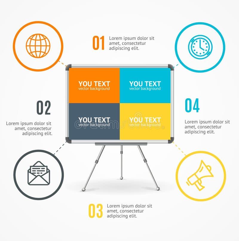Concept de chevalet ou de bureau de carte de bannière d'option d'Infographic d'affaires Vecteur illustration de vecteur