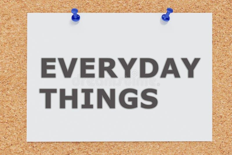 Concept de choses quotidiennes illustration de vecteur