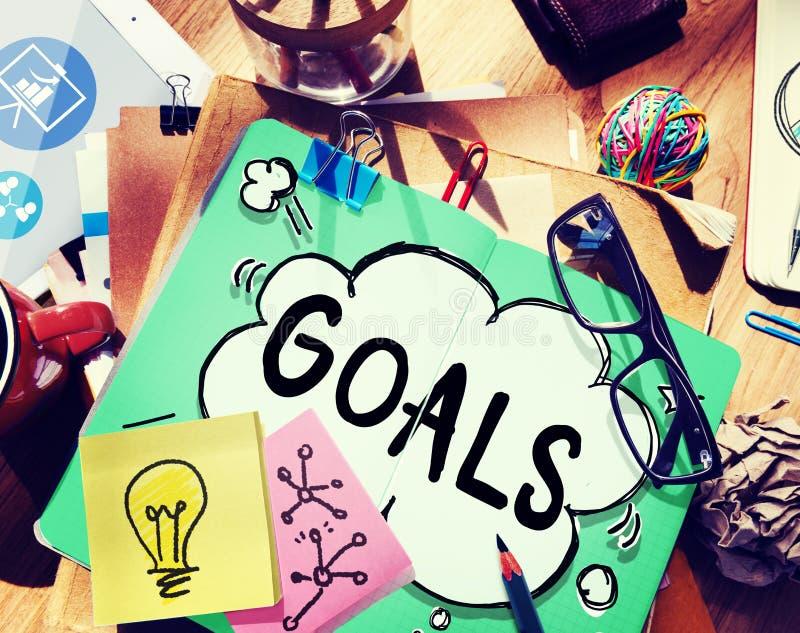 Concept de cible d'inspiration d'accomplissement d'aspiration de buts photographie stock