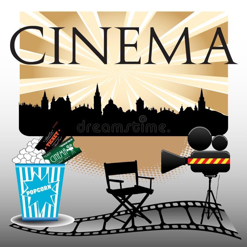 Concept de cinéma illustration stock
