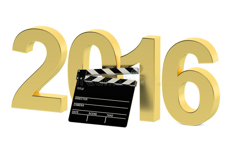 Concept 2016 de cinéma illustration libre de droits