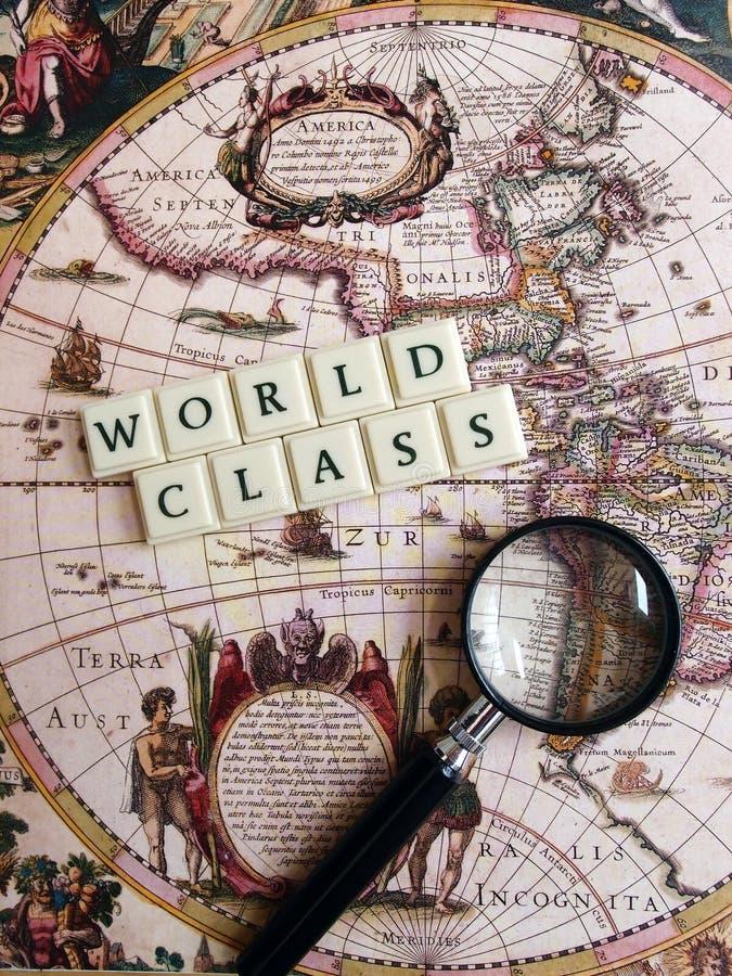 Concept de classe du monde image libre de droits