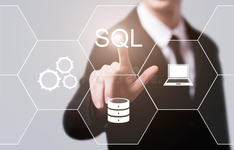 Concept de codage de développement de Web de langage de programmation de SQL photo stock