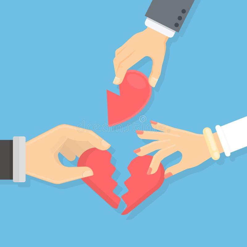 Concept de coeur cassé illustration stock