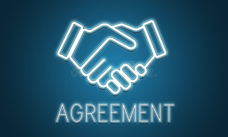 Concept de collaboration de coopération d'accord d'association illustration stock