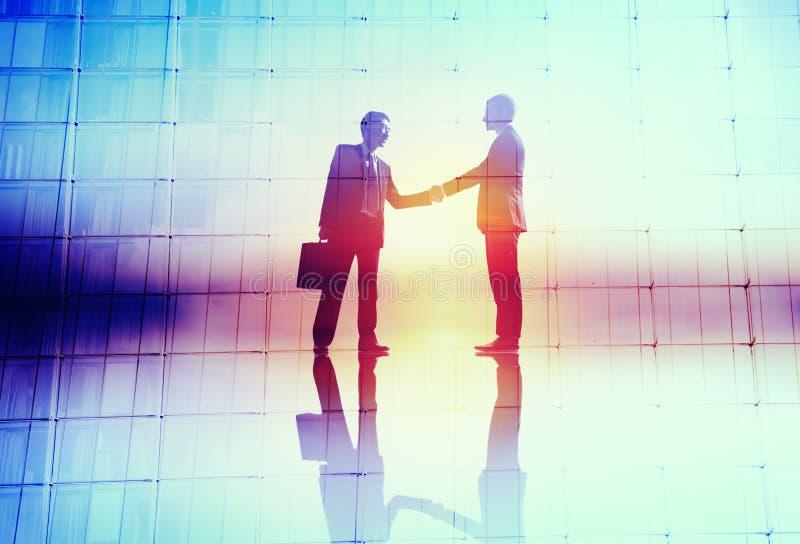 Concept de collaboration de succès de salutation d'accord d'affaires de poignée de main photographie stock libre de droits