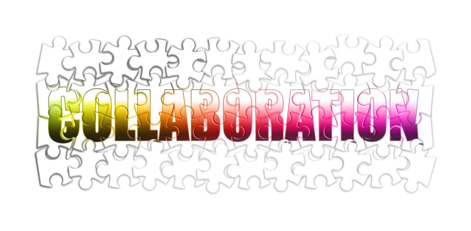 Concept de collaboration et de coop?ration dans la forme de puzzle illustration stock