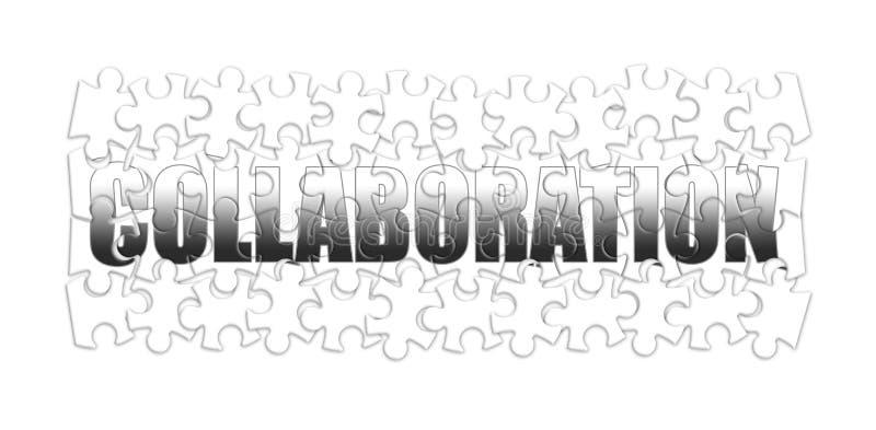 Concept de collaboration et de coop?ration dans la forme de puzzle photo stock