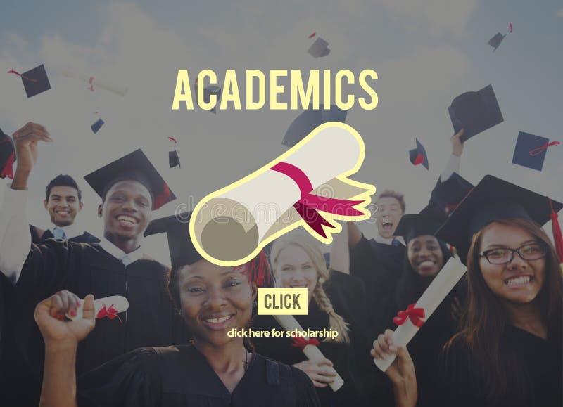 Concept de collage d'éducation d'école d'universitaires photographie stock