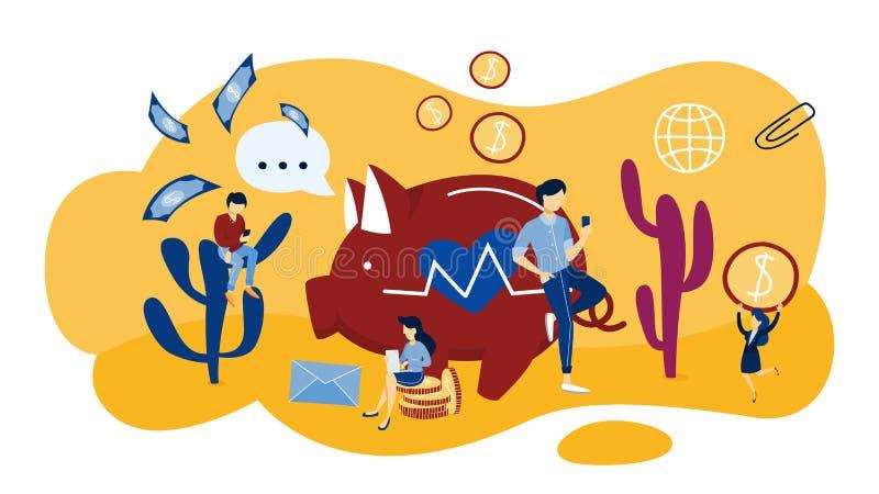 Concept de collecte de fonds Idée de la charité et de la donation illustration de vecteur