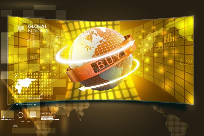 Concept de commerce électronique illustration libre de droits