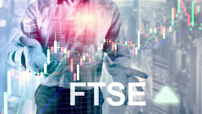 Concept de commerce d'investissement du Royaume-Uni R-U Angleterre d'index de bourse des valeurs de FTSE 100 Financial Times avec image stock