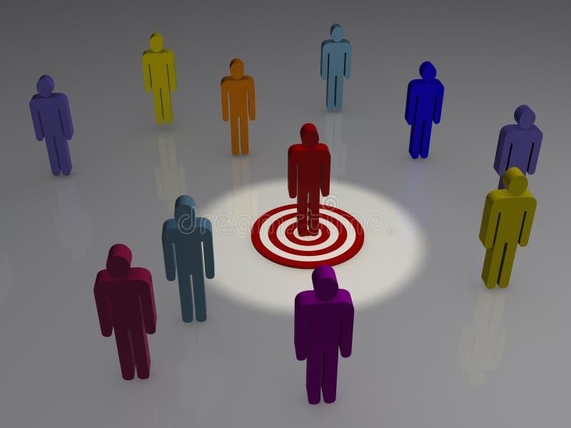 Concept de commercialisation ciblée illustration de vecteur