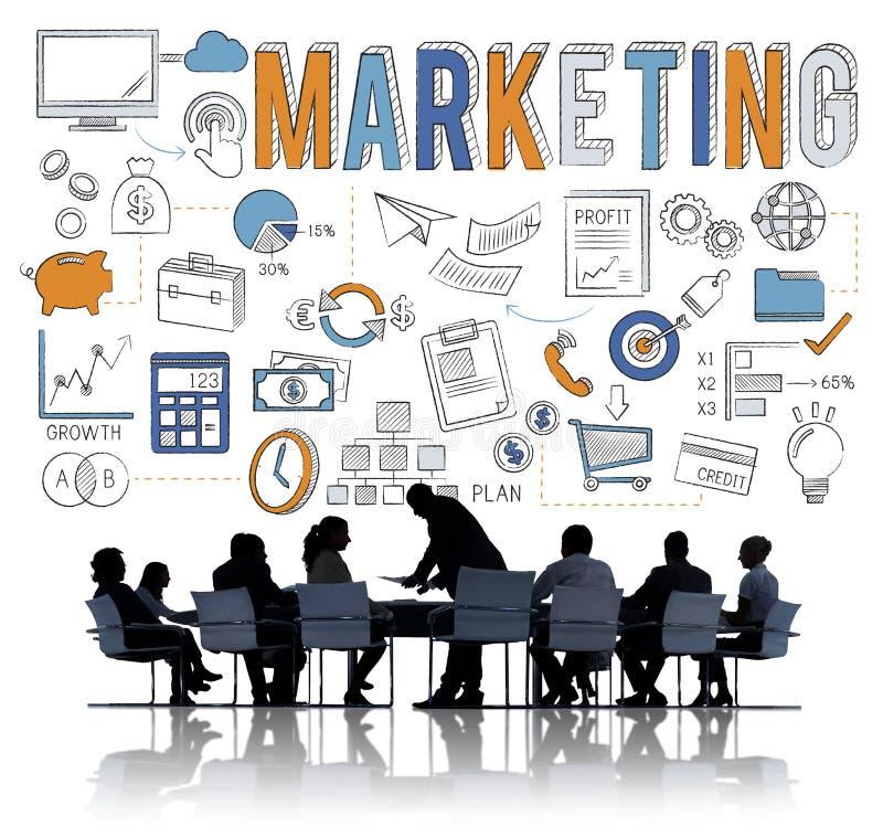 Concept de commercialisation de plan de publicité commerciale image libre de droits