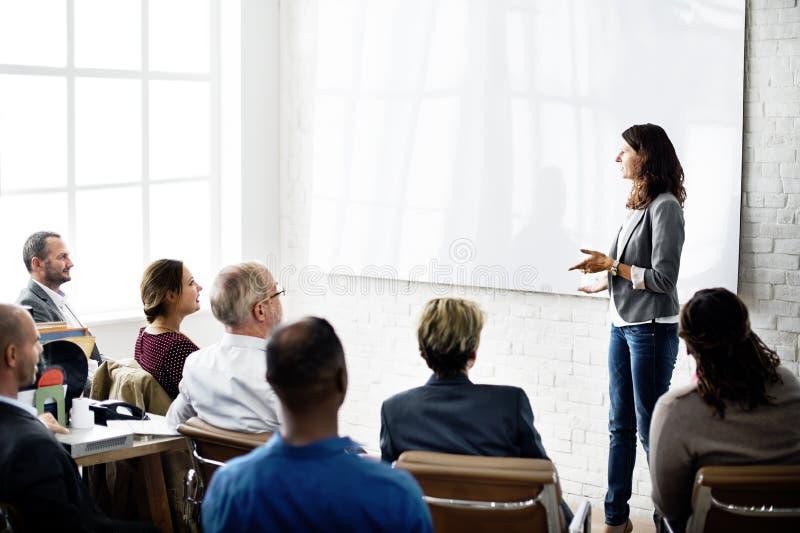 Concept de communication d'affaires de collègues de conférence photographie stock