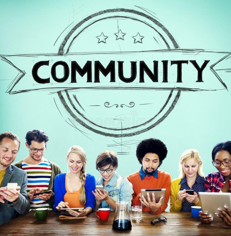 Concept de communication de connexion de diversité de citoyen de la Communauté images libres de droits
