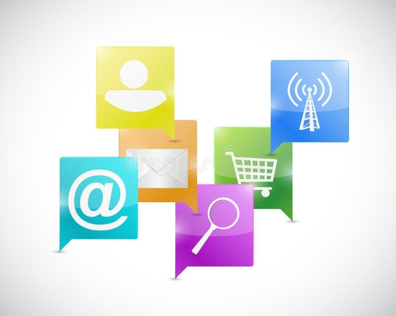 Concept de communication de réseau Internet illustration libre de droits