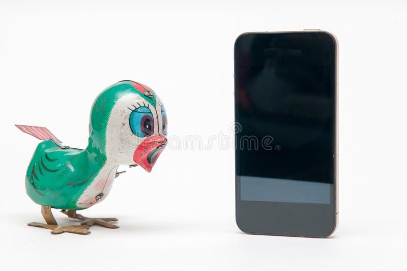 Concept de communications avec des jouets de vintage image libre de droits