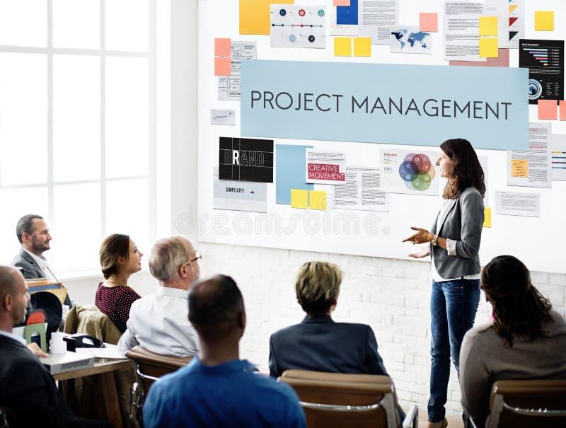Concept de compétence d'organisation de gestion des projets photo libre de droits