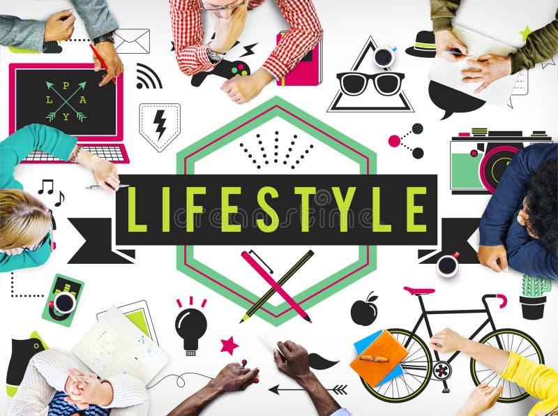 Concept de comportement de culture d'habitudes de passion de passe-temps de mode de vie photos stock