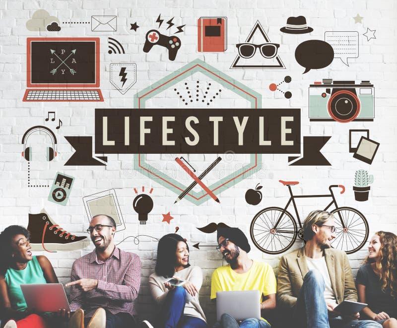 Concept de comportement de culture d'habitudes de passion de passe-temps de mode de vie image stock