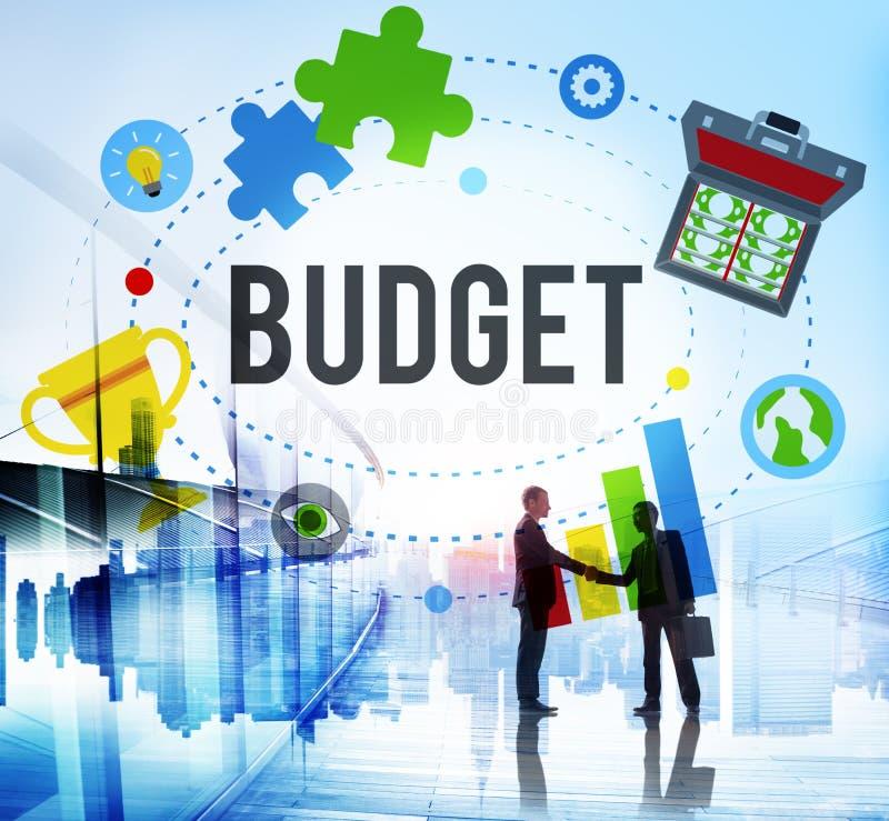 Concept de comptabilité d'investissement de comptabilité d'opérations bancaires de budget photos libres de droits