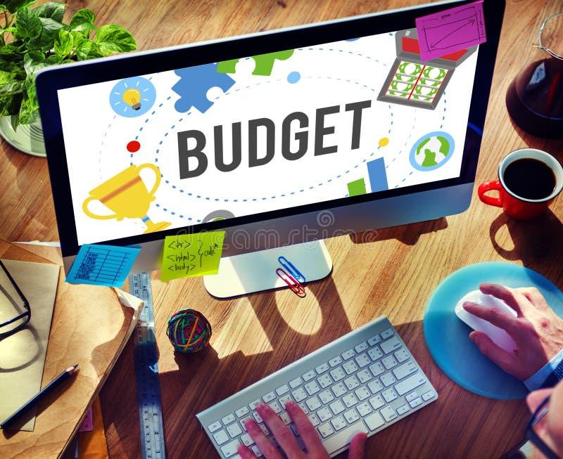 Concept de comptabilité d'investissement de comptabilité d'opérations bancaires de budget photographie stock libre de droits
