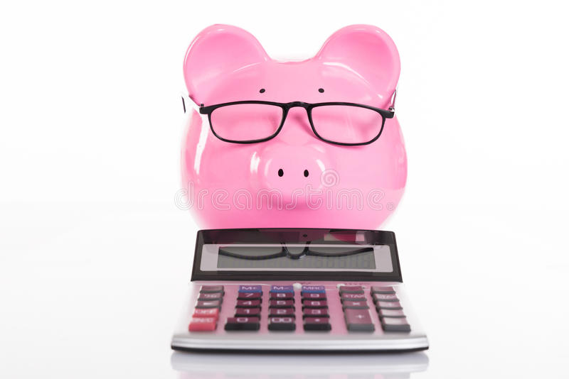 Concept de comptabilité et d'épargne photographie stock libre de droits