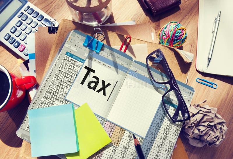 Concept de comptabilité financier d'économie de paiement d'impôts photo stock