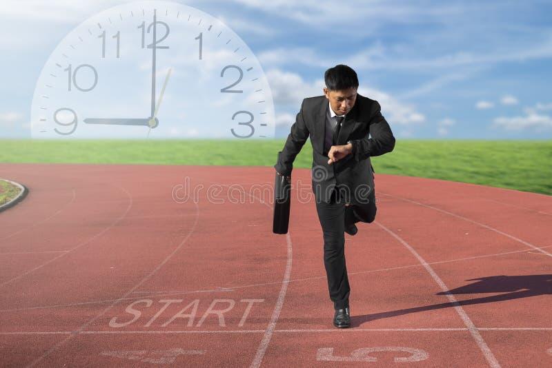 Concept de concurrence d'affaires sur la motivation et le succès de voie photographie stock