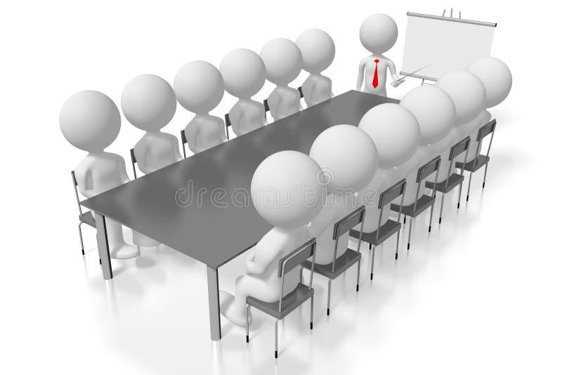 concept de conférence d'étude de cas de formation du séminaire 3D illustration libre de droits