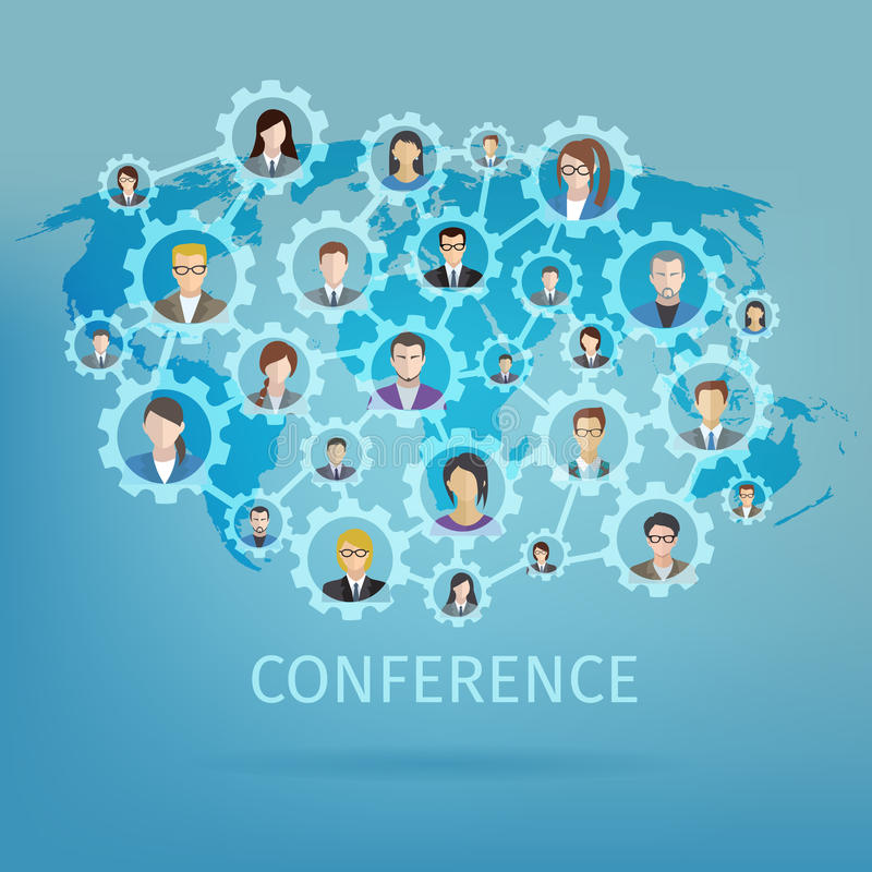 Concept de conférence d'affaires illustration libre de droits