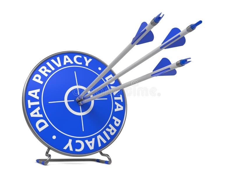 Concept de confidentialité des données - cible de coup. illustration de vecteur