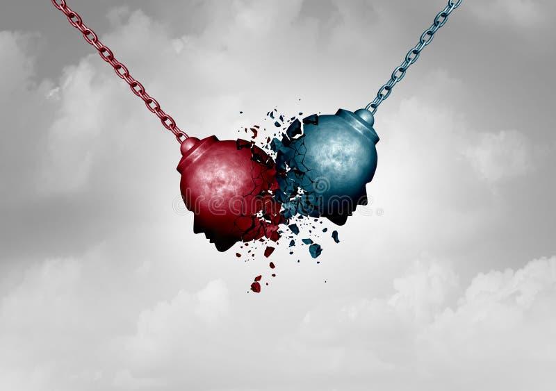 Concept de conflit illustration libre de droits