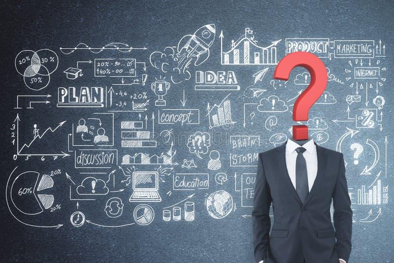 Concept de confusion et de finances images stock