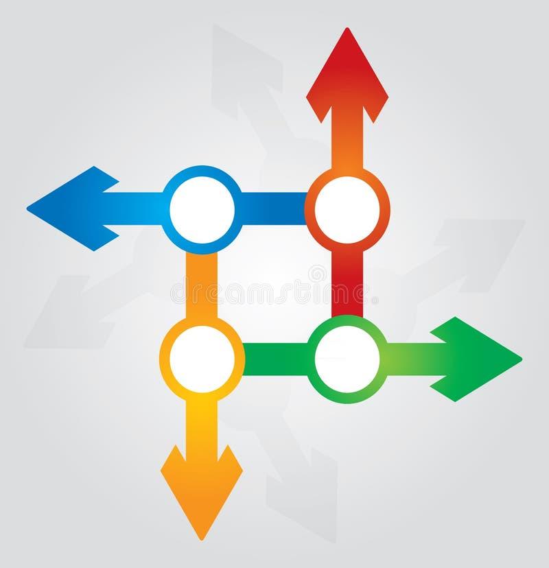 Concept de connexion illustration stock