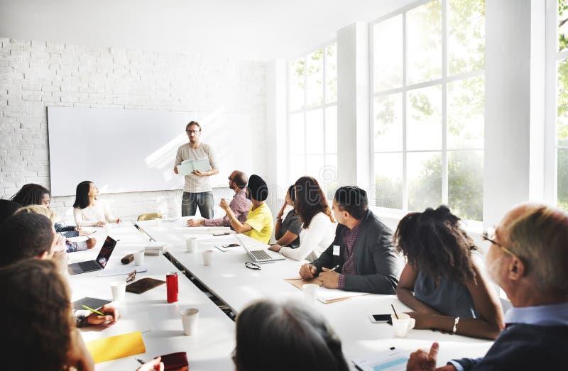 Concept de connexion d'entreprise constituée en société d'affaires de réunion image libre de droits