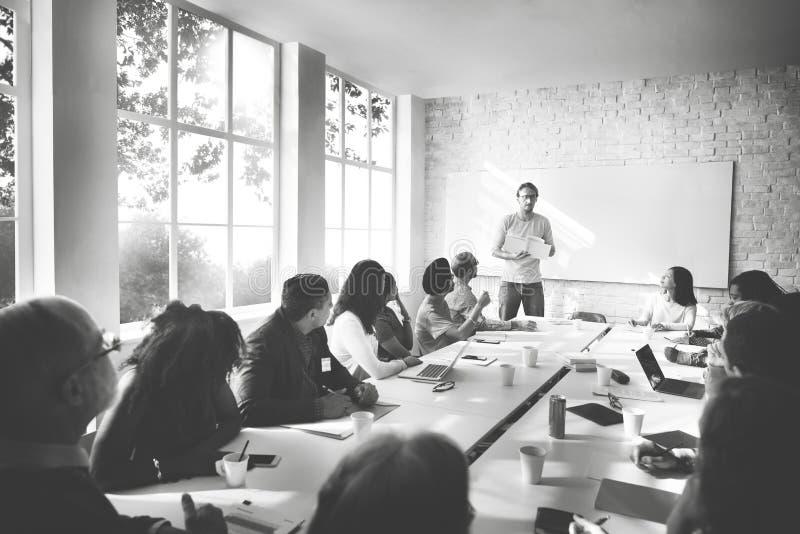 Concept de connexion d'entreprise constituée en société d'affaires de réunion image stock