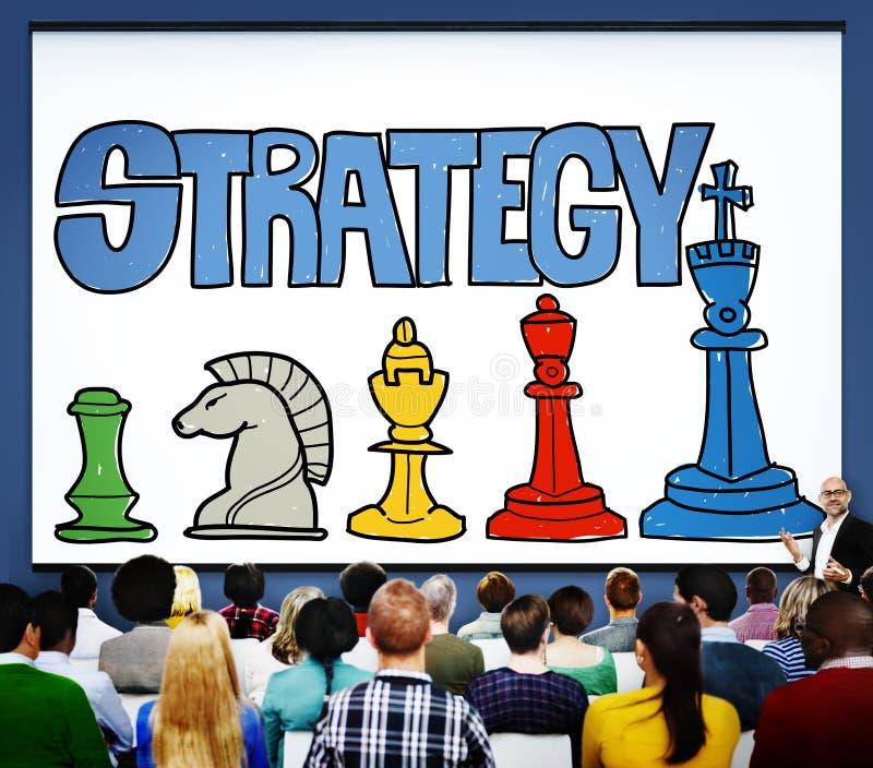 Concept de connexion de croissance de buts de succès de collaboration de stratégie image libre de droits