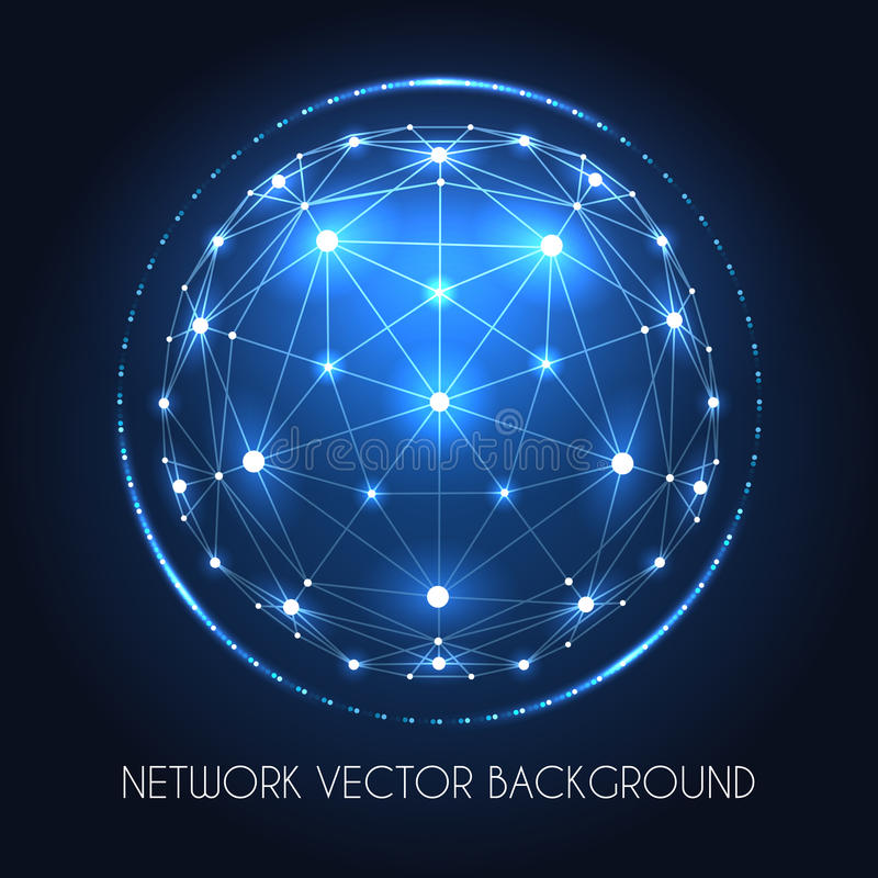 Concept de connexion de sphère de réseau de globe illustration stock