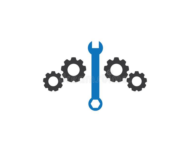 Concept de construction automatique de logo de service illustration de vecteur