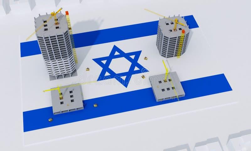 Concept de construction de bâtiments en Israël illustration de vecteur