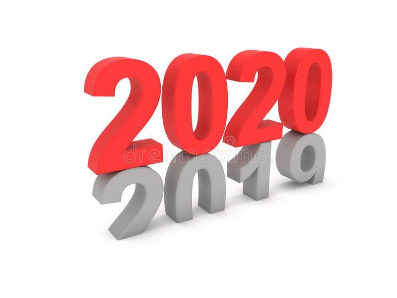 Concept de construction créatif de la nouvelle année 2020 illustration libre de droits