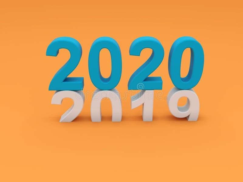 Concept de construction créatif de la nouvelle année 2020 illustration stock
