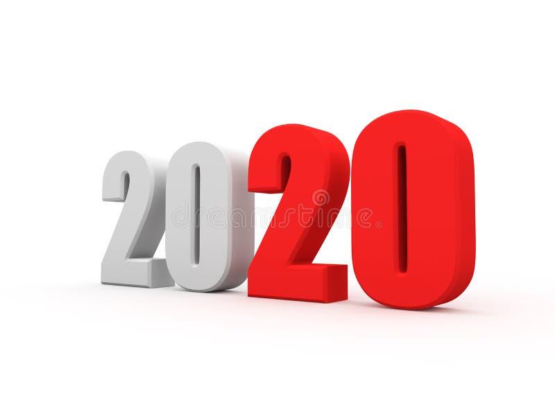 Concept de construction créatif de la nouvelle année 2020 illustration de vecteur