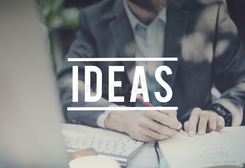 Concept de construction de créativité de motivation d'inspiration d'idées photo stock