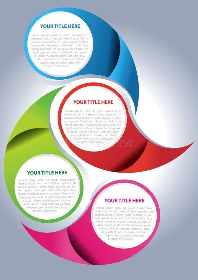 Concept de construction de page de brochure de vecteur illustration stock
