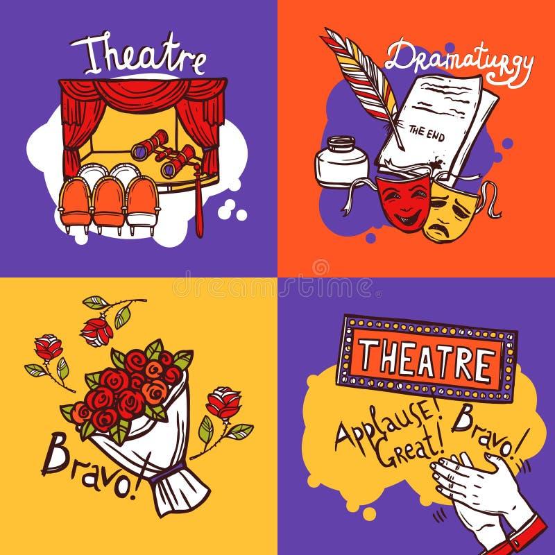Concept de construction de théâtre illustration libre de droits