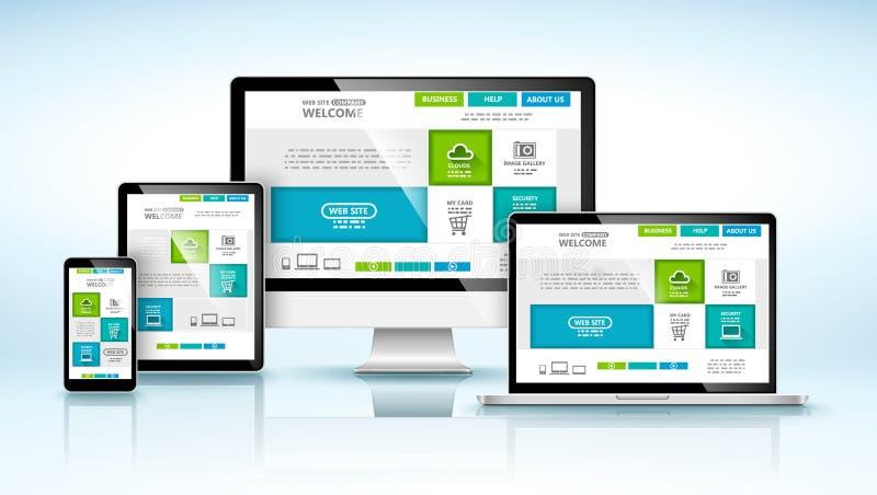 Concept de construction de Web Vecteur illustration stock